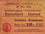 WM Qualifikationsspiel 1954